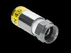 Kreiling F 7-49 KRCOMP Wasserdichter F-Kompressionsstecker für Koaxkabel Ø 6,6-7,0 mm (10 )