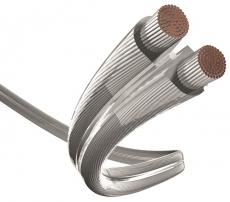 Inakustik Lautsprecher Kabel Silber 2 x 2,5 mm² (1 Meter)
