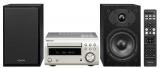 Denon D-M41DAB Premium Silber mit schwarzen Lautsprechern Minisystem mit Bluetooth