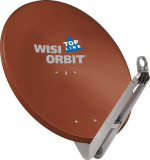 Wisi OA 85 l Rot-Braun Offset-Antenne 85cm