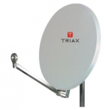 Triax Hit FESAT 75 Lichtgrau Offset-Parabolreflektor RAL 7035