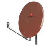 Triax Hit FESAT 75 Ziegelrot Offset-Parabolreflektor RAL 8012