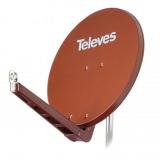 Televes S75QSD-Z 75 x 85 QSD Alu-Reflektor ziegelrot
