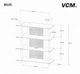 VCM Bilus HiFi Rack Regal Tisch Alu Glas Schwarzglas