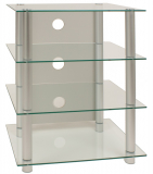 VCM Blados HiFi Rack Regal Tisch Alu Glas Klarglas
