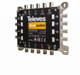 Televes MS 58NCQ QUAD-taugliche NEVO Multischalter mit 5 Eingängen und 8 Ausgängen