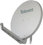 Televes S85QSD-W OSD-Line Offset Reflektor BxH 85x95cm, Feedarm klappbar, TÜV geprüft, Farbe: Weiß (RAL9002)